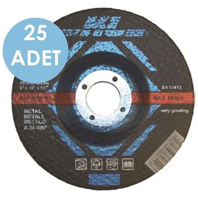 KL Klta115 25 Adet 115x22.2 Mm Metal Kesme Diski Bombeli Makine Aksesuarı
