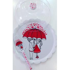 Keramika Set Fanus Kek Red Love Melamın Yemek Takımı