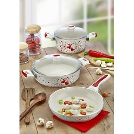 Keramika Tencere Alumınyum-seramık 5lı Kalp Yagmuru / 321506 Tava