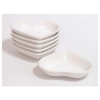 Keramika Cerezlık Kalp 13 Cm Beyaz 004 Tabak