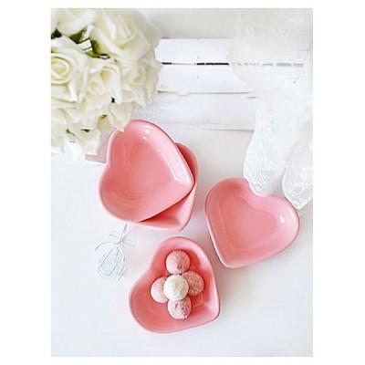 Keramika 6 Adet Kalp  Pembe 550 Çerezlik