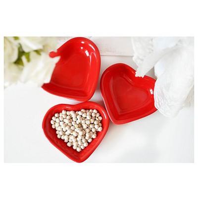 Keramika Cerezlık Kalp 14 Cm Bayrak Kırmızı 506 Çerezlik