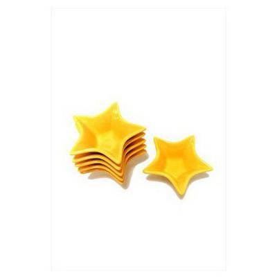 Keramika Cerezlık Yıldız 16 Cm Sarı 100 Çerezlik
