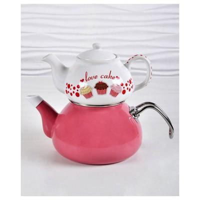 Keramika Demlık 9 Cm Beyaz 004 Fruıt Cake Demlık A Çaydanlık