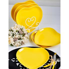 Keramika Kalp 20 Cm Sarı 117 Tabak