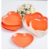 Keramika Tabak Kalp 20 Cm Turuncu 200 Sofra Gereçleri