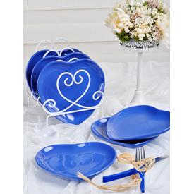 Keramika Kalp 20 Cm Efe Mavı 408 Tabak