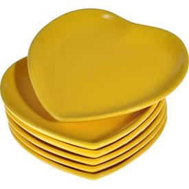 Keramika Kalp 25 Cm Sarı 117 Tabak