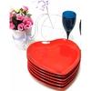 Keramika Tabak Kalp 25 Cm Kırmızı Bayrak 506 Sofra Gereçleri