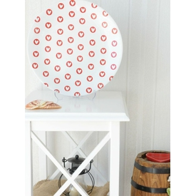Keramika Tabak Ege Servıs 25 Cm Beyaz 004 Full Keyf -- Kırmızı-boş Kalp 25 Cm Ege Tabak A Küçük Mutfak Gereçleri