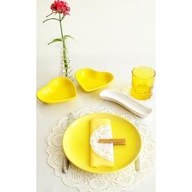 Keramika Alfa Pasta 21 Cm Pıko Sarı 100 A Tabak
