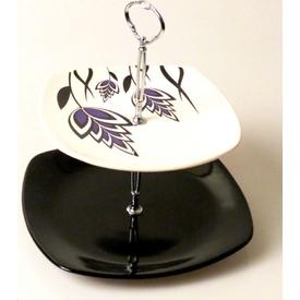 Keramika Set Meyvalık Kosem 2 Katlı Beyaz 004-sıyah 650 Bugday A Servis Gereçleri