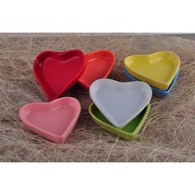 Keramika Set Cerezlık Kalp 9 Cm 6 Parca 004-100-200-302-400-550 A Çerezlik