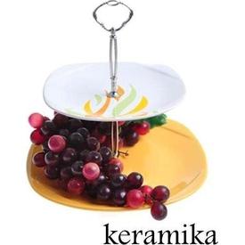 Keramika Set Meyvalık Karem 2 Katlı Beyaz 004-sarı 102 Ates A Meyvelik