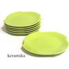 Keramika 6 Adet Rüzgar Servis Tabağı 25 Cm Yeşil 302 Tabak