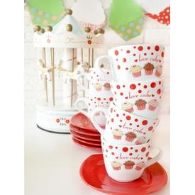 Keramika 12 Adet Yeditepe Çay Takımı Fruit Cake Çay Seti
