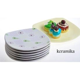Keramika Takım Pasta Kosem 7 Parca Sfelma Pasta Takımı
