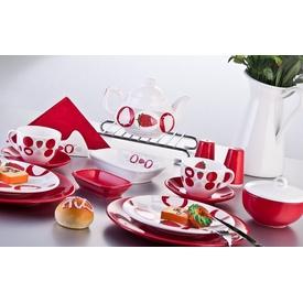 Keramika Set Ege Kahvaltı 34 Parca Beyaz 004 Straweberry A Yemek Takımı