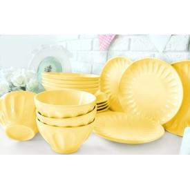 Keramika Takım Yemek Badem 16 Parca Acık Sarı 103 Yemek Takımı