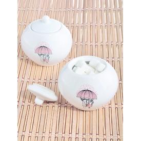 Keramika Sekerlık Julıet 10 Cm Beyaz 004 Pınk Love Keramıra A Yemek Takımı