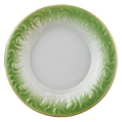 Arte Bianco El Yapımı Naz Yeşil Çay Tabağı Çay Seti