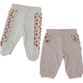 Baby Center 70825 2 Li Tek Alt Ayaksız Pantolon Lila 6-9 Ay (68-74 Cm) Pantolon & Şort