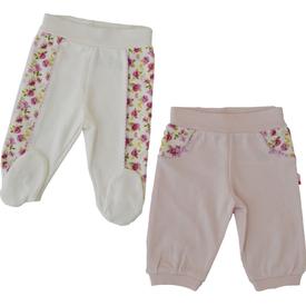 Baby Center 70825 2 Li Tek Alt Ayaksız Pantolon Lila 9-12 Ay (74-80 Cm) Pantolon & Şort