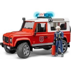 Bruder Land Rover Itfaiye Aracı Ve Itfaiye Memuru Erkek Çocuk Oyuncakları