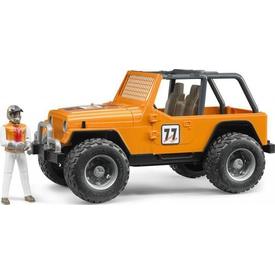 Bruder Jeep Cross Safari Aracı Kasklı Pilotu Turuncu Erkek Çocuk Oyuncakları