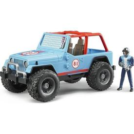 Bruder Jeep Cross Safari Aracı Kasklı Pilotu Mavi Erkek Çocuk Oyuncakları