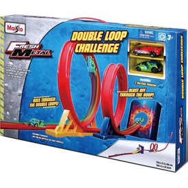 Maisto Fresh Metal Double Loop Challenge Yarış Oyun Seti Erkek Çocuk Oyuncakları