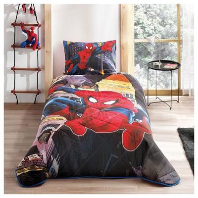Taç Spiderman In City Yatak Örtüsü Tek Kişilik Ev Tekstili