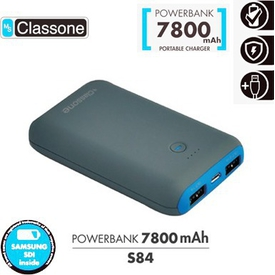 classone-s84-blue-powerbank-7800-mah-tasinabilir-usb-sarj-cihazi