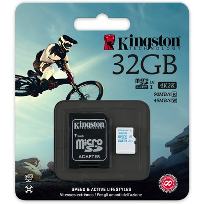 Kingston 32GB Action Camera UHS-I U3 microSD Kart (SDCAC/32GB)
