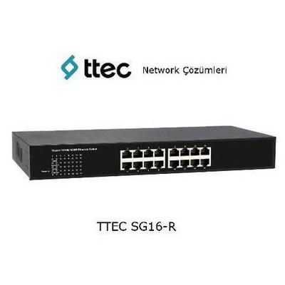 Ttec Sg16-r 16-port 10/100/1000m Gigabit Ethernet, Rack Tipi Tak Çalıştır Switch