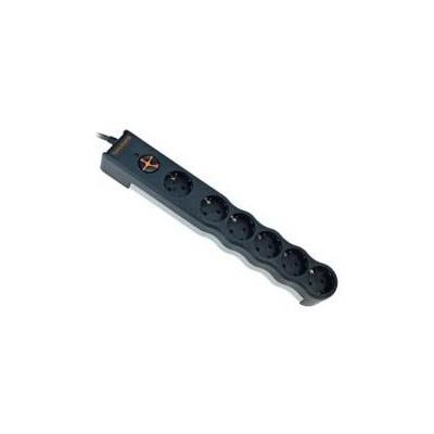 Tuncmatik Tsk5097 Powersurge 6'lı 1.5m Kablolu 350 Joule Siyah Renkli Akım Korumalı Priz