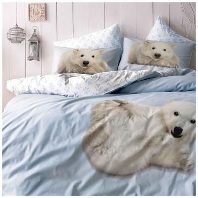 Taç Bear  Çift Kişilik - Mavi Nevresim Takımı