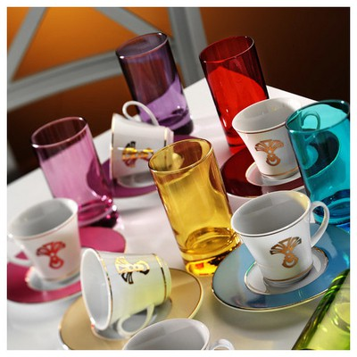 Kütahya Porselen Estel 18 Parça 6593 Desen Kahve Fincan Takımı Çay Seti