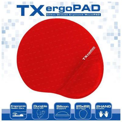 tx-acmpad01rd-ergopad-plus-bilek-jel-destekli-kirmizi-mousepad-250x220x5mm