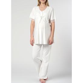 Elija Lohusa Pijama Takım Ekru M Gecelik & Pijama