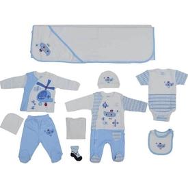 Aziz Bebe 10109  10 Lu Ekru 0 Ay (50-56 Cm) Erkek Bebek Hastane Çıkışı