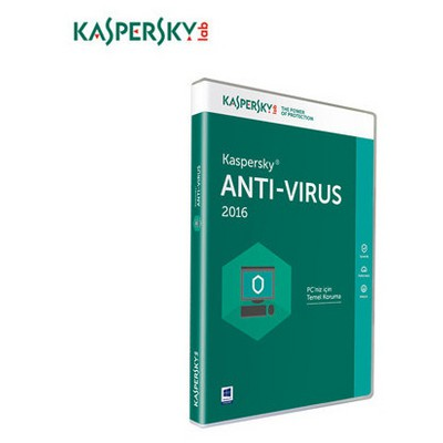 Kaspersky Antivirüs 2016, Türkçe, 2 Kullanıcı Güvenlik Yazılımı