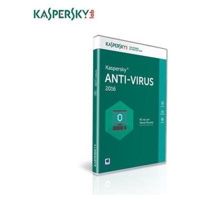 Kaspersky Antivirüs 2016, Türkçe, 4 Kullanıcı Güvenlik Yazılımı