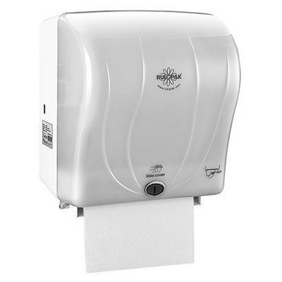 Rulopak R-1301b Sensörlü Kağıt Havlu Makinesi 26 Cm - Şeffaf Beyaz Kağıt Havlu Dispenseri