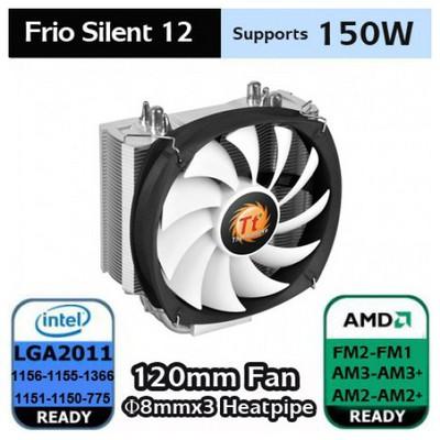 Thermaltake Frio Silent 12cm fanlı CPU Soğutucu İntel LGA2011/1366/115x/775 AMD FM2/AMD Serisi Fan