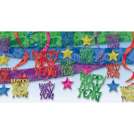 Parti Paketi Yılbaşı Renkli, Tavan Dekor Kiti Parti Dekoru