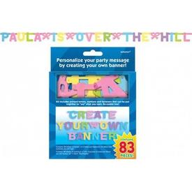 Parti Paketi Afişini Kendin Yarat, Pastel Renkli Parti Afişi