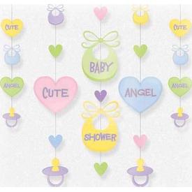 Parti Paketi Sevimli Bebek, Baby Shower Ip Süsü 5'li Parti Süsü