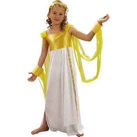 Parti Paketi Yunan Tanrıçası Afrodit Kostümü, Lüks 7-9 Y Kız Çocuk Kostümleri