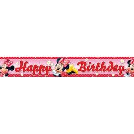 Parti Paketi Minnie Mouse, Folyo Banner Parti Afişi